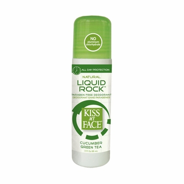 Cucumber Green Tea Liquid Rock Roll-On by Kiss My Face - 3 oz.