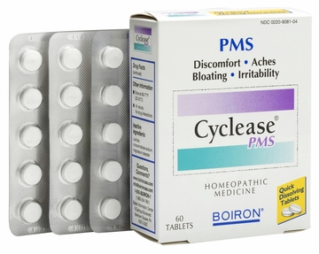 Cyclease PMS Menstrual Cramp Relief by Boiron - 60 Tablets