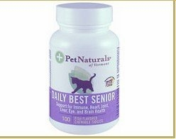 Pet Naturals of Vermont Daily Best Senior Fish - 100 Chewable Tablets