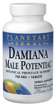 Planetary Herbals Damiana Male Potential 575 mg - 90 Tablets