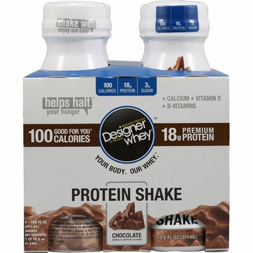Designer Whey Shake Chocolate by Designer Whey - 4 Pack / 10.5oz.