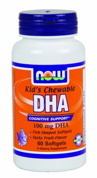 Now Foods DHA Kid's Chewable 100 mg - 60 Softgels