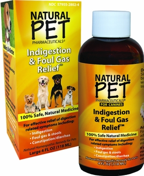 Dog Indigestion and Foul Gas Relief by King Bio - 4oz.