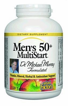 Dr. Murray's MultiStart Men's 50+ by Natural Factors - 120 Tablets