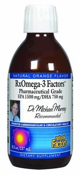 Dr. Murray's RxOmega-3 Factors Orange flavor by Natural Factors - 8 oz.