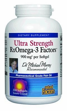 Dr. Murray's Ultra Strength RxOmega-3 Factors by Natural Factors - 150 Softgels