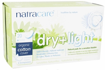 Dry and Light Natural Incontinence Pads by Natracare - 20 Pads