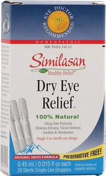 Similasan Dry Eye Relief Drops - 20 Sterile Single Use Droppers