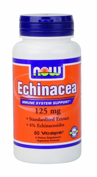 Now Foods Echinacea 125 mg - 60 Vegetarian Capsules