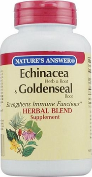 Echinacea and Goldenseal Root by Nature's Answer - 60 Vegetarian Capsules