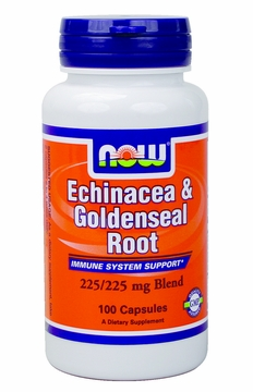 Now Foods Echinacea & Goldenseal Root 225 mg - 100 Capsules