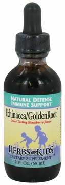 Echinacea/GoldenRoot Blend Blackberry Flavor by Herbs for Kids - 2oz.