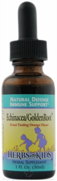Echinacea/GoldenRoot Blend Orange Flavor by Herbs for Kids - 1oz.