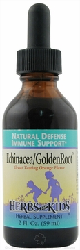 Echinacea/GoldenRoot Blend Orange Flavor by Herbs for Kids - 2oz.