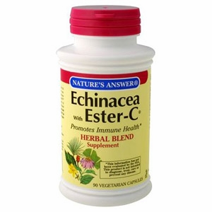 Echinacea with Ester-C by Nature's Answer - 90 Vegetarian Capsules