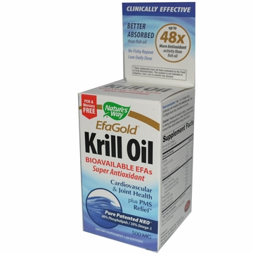 EfaGold Krill Oil 500mg by Nature's Way - 60 Softgels