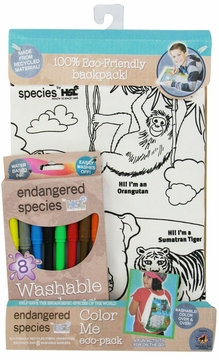 Health Science Labs Endangered Species Jungle Color Me Eco-Pack Backpack Set