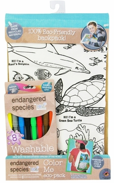 Health Science Labs Endangered Species Ocean Color Me Eco-Pack Backpack Set