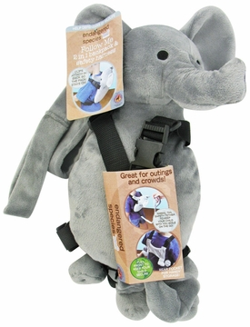 Health Science Labs Endangered Species Elephant Follow Me 2-in-1 Backpack and Safety Harness