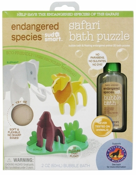 Health Science Labs Endangered Species Safari Small Puzzle Bath Set