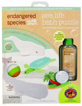 Health Science Labs Endangered Species Sea Life Small Puzzle Bath Set