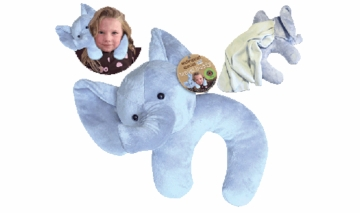 Health Science Labs Endangered Species Travel Buddy Elephant/Panda Assorted Neck Pillow and Blanket
