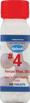 Ferrum Phosphoricum 30X by Hylands - 500 Tablets