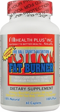 Health Plus Fat Burner with L-Carnitine - 60 Tablets