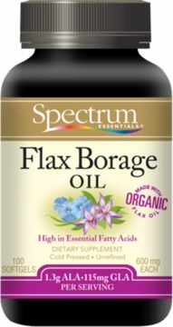 Spectrum Essentials Flax Borage Oil 600 mg - 100 Softgels