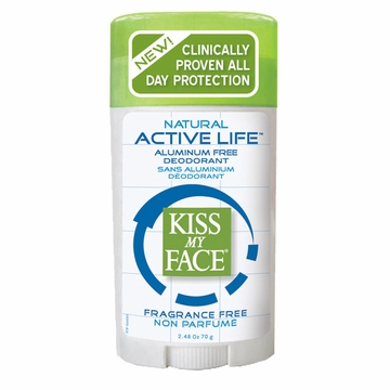 Kiss My Face Paraben Free Active Enzyme Deodorant Stick (Fragrance Free) - 2.48 Ounces