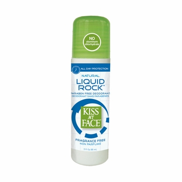 Kiss My Face Paraben Free Liquid Rock Roll-On Deodorant (Fragrance Free) - 3 Ounces