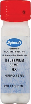 Gelsemium Sempervirens 6X by Hylands - 250 Tablets