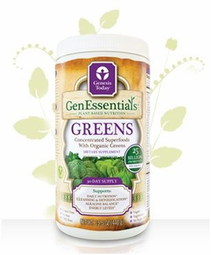 GenEssentials Greens by Genesis Today - 15.5 oz/30 Day Supply