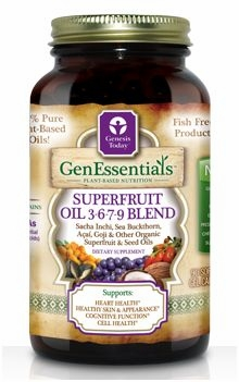 GenEssentials Superfruit Oil 3-6-7-9 Blend by Genesis Today - 180 Softgels/30 Day Supply