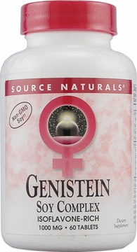 Source Naturals Genistein Soy Complex 1000 mg - 60 Tablets