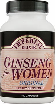Ginseng for Women by Imperial Elixir Ginseng - 100 Capsules