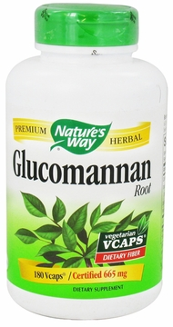 Glucomannan by Nature's Way - 180 Vegetarian Capsules