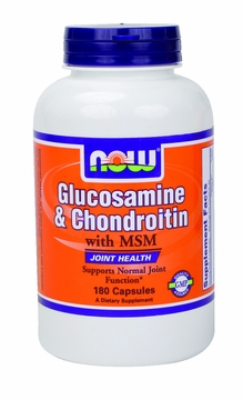 Now Foods Glucosamine & Chondroitin with MSM - 180 Capsules