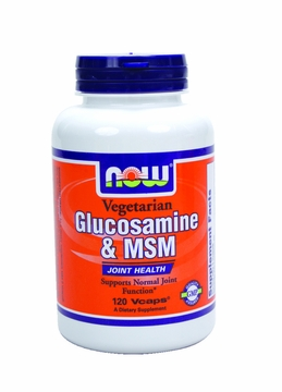 Now Foods Glucosamine & MSM 1000 mg - 120 Vegetarian Capsules