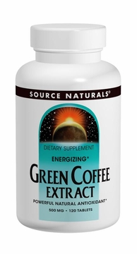 Source Naturals Energizing Green Coffee Extract 500 mg - 120 Tablets