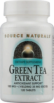 Source Naturals Green Tea Extract 100 mg - 120 Tablets