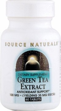 Source Naturals Green Tea Extract 100 mg - 60 Tablets