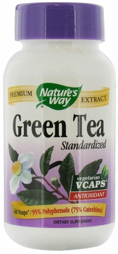 Green Tea Standardized Extract by Nature's Way - 60 Vegetarian Capsules