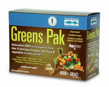 Greens Pak Chocolate by Trace Minerals Research - 30 Packets