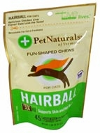 Pet Naturals of Vermont Hairball for Cats Chicken Liver-45 Soft Chews
