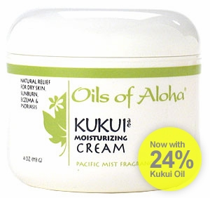Hawaiian Kukui Moisturizing Cream w/Pacific Mist Fragrance by Oils of Aloha - 4oz.