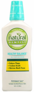 Healthy Balance All Purpose Rinse Peppermint Sage by Natural Dentist - 16oz.