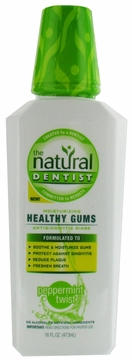 Healthy Gums Moisturizing Antigingivitis Rinse Peppermint Twist by Natural Dentist - 16oz.