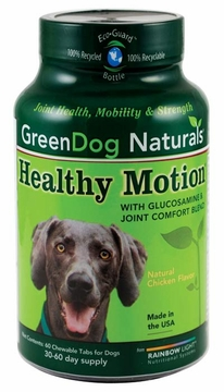 Green Dog Naturals Healthy Motion - 60 Chewable Tablets