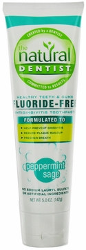 Healthy Teeth and Gums Flouride-Free Antigingivitis Toothpaste Peppermint Sage Flavor by Natural Dentist - 5oz.